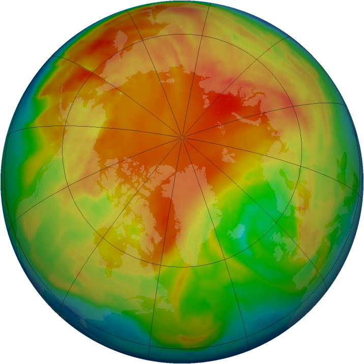 Arctic ozone map for 23 February 2013